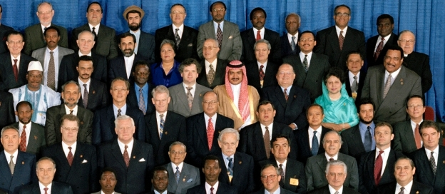 Group Photo of World Leaders Attending Special Commemorative Meeting of the General Assembly on the Occasion of the Fiftieth Anniversary of the United Nations unmultimedia - 2 October 1995 United Nations, New York Photo # 31500