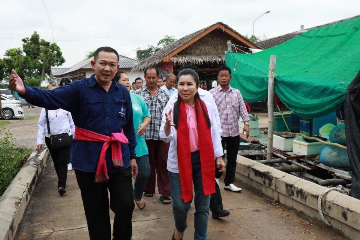 กลุ่มชาวประมง ธนาคารปูม้า ท่าเรือประมง ต.แหลมผักเบี้ย อ.บ้านแหลม จ.เพชรบุรี : พรรคชาติไทยพัฒนา Chartthaipattana Party